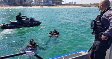 נמשכים מאמצי המשטרה לאיתור הנעדר שנכנס לים במוצ״ש